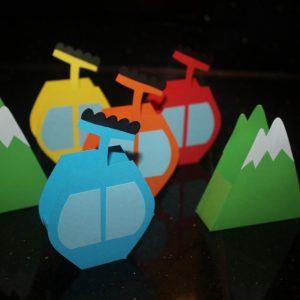 Traktatie bergen en skigondels